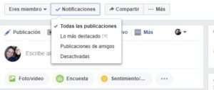 Grupos de Facebook notificaciones